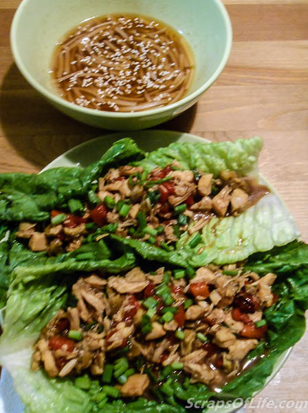 We paired the Barbecue Chinese Chicken Lettuce Wraps (p208) with the Sesame Noodles (p50)--probably the best version of sesame noodles I've had to date!