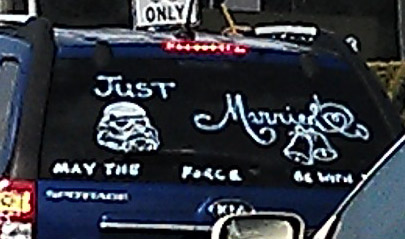 Spotted in traffic: some pretty cool congratulatory