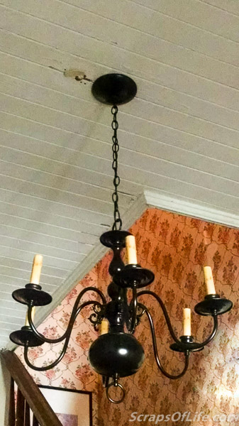 "I really liked the ""original"" fixture, but it was missing some globes and one arm fitting needed resoldering. This one will work better with the eventual wallpaper change."
