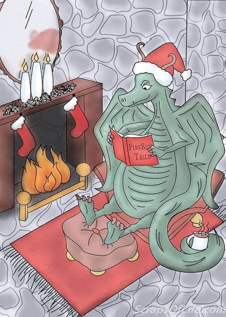 Custom holiday card illustration a friend ordered last year.