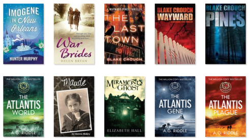 July reads--book cover images via Goodreads