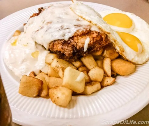 Q Cafe--Little Bit of Chicken Fried loaded potato skillet