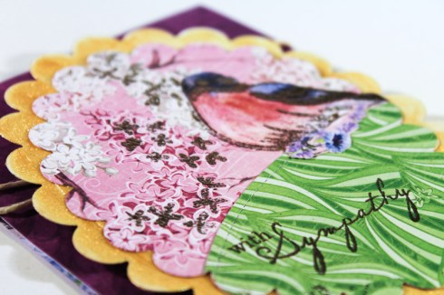 Sympathy Card using BoBunny papers