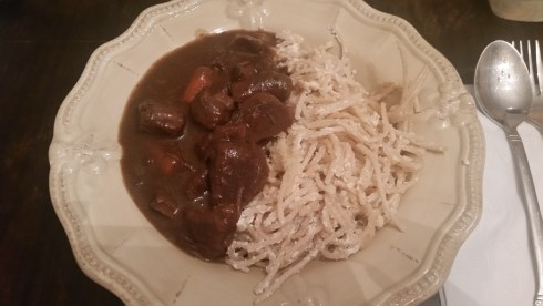 Pot Roast in Red Wine + Sour Cream Noodles