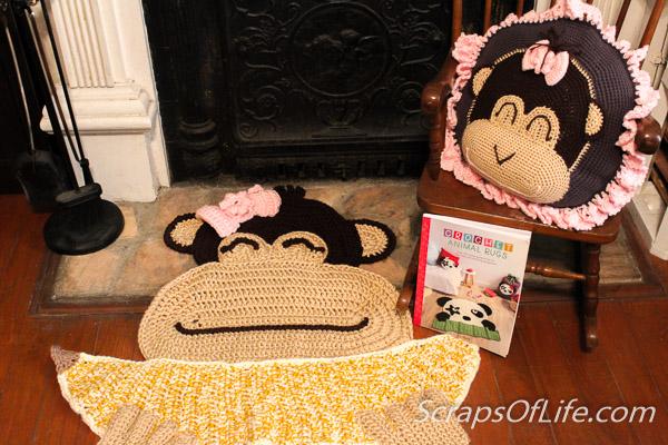 ABC Knitting Patterns - Fringed Doll Rug   400x600
