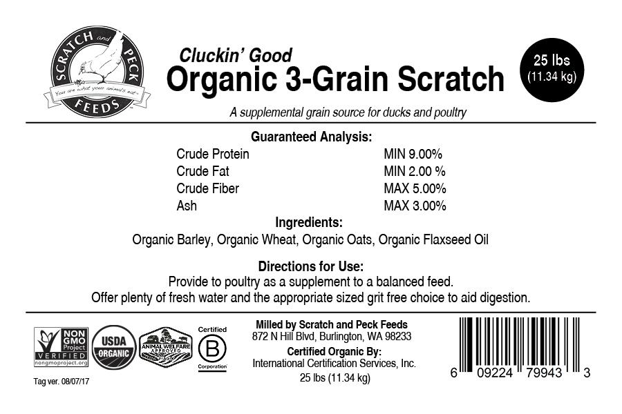 Cluckin' Good Organic 3-Grain Scratch
