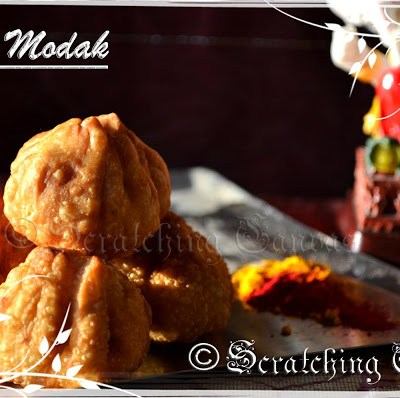 Fried Modak for Ganesh Chaturthi
