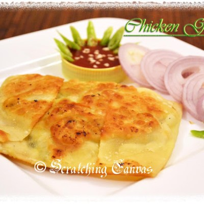 Chicken Gözleme with veggies : Turkish Mughlai Paratha: Bideshi Khana Desi Andaz