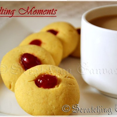 Eggless Melting Moments Cookies
