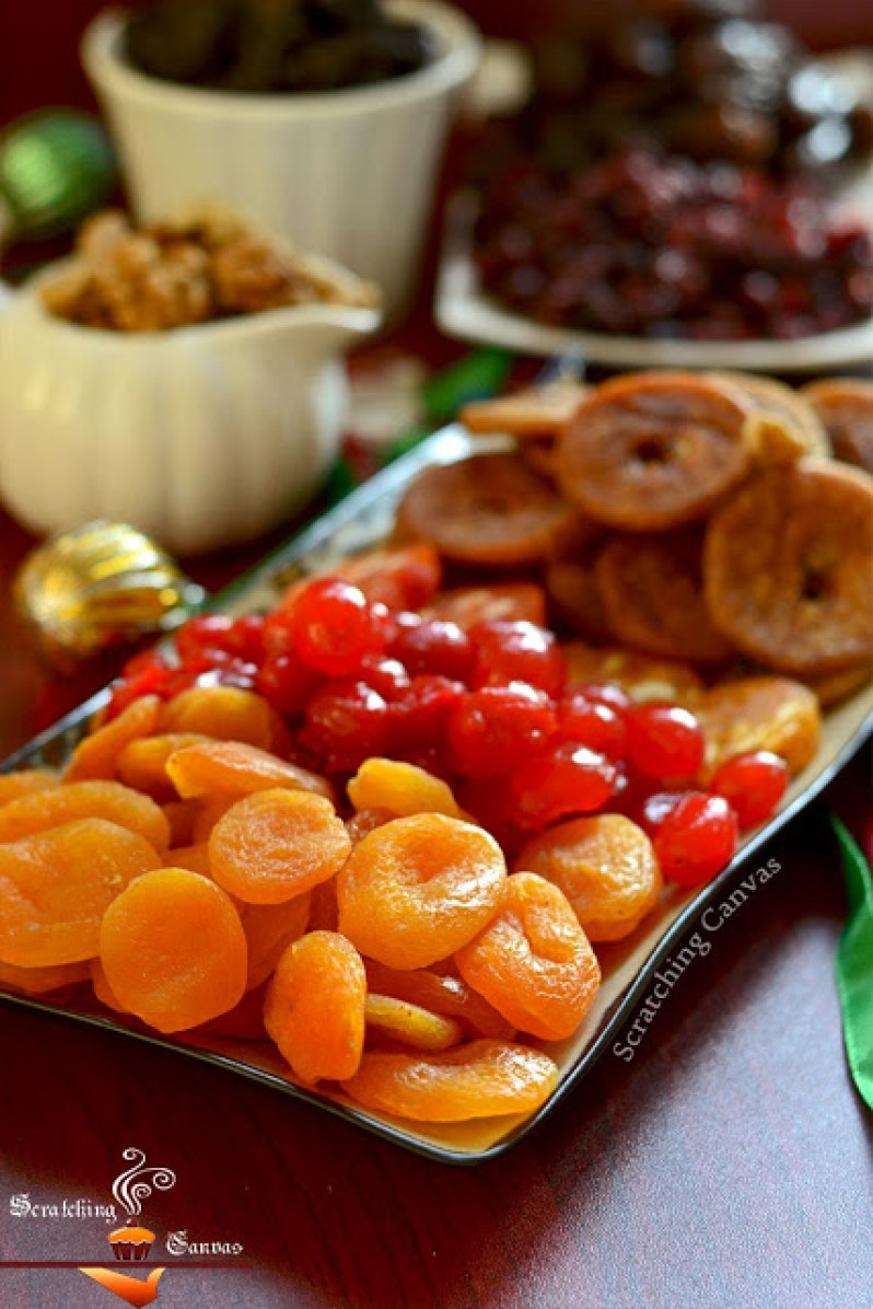 Dried fruits for christmas cake