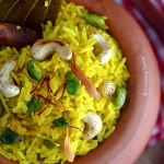 Bengali Holud Mishti Pulao Food Photography