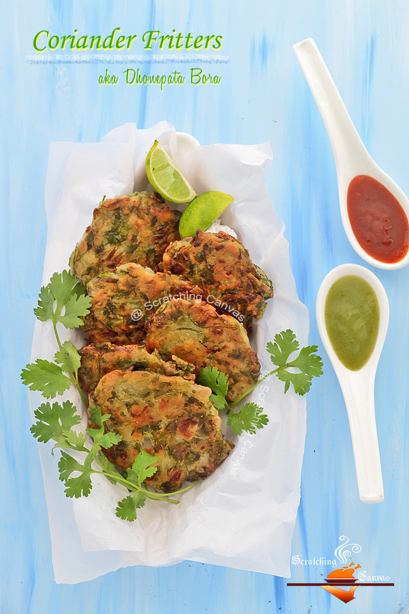 Cilantro Fritters | Hara Dhania Bhaji | Appetizer Recipes