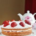 Classic Victoria Sponge Sandwich Cake Food Photography