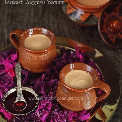 Bengali Nolen Gurer Mishti Doi in 10 mins | Instant Sweet Yogurt in Date Palm Jaggery