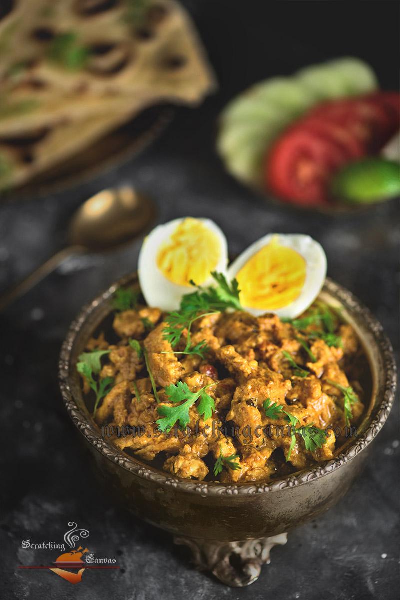 Kolkata Chicken Bharta Recipe