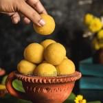 Moong Dal Ladoo Dark Food Photography Styling