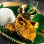 Ilish Mach Bhaja Tel Bhat Recipe Video