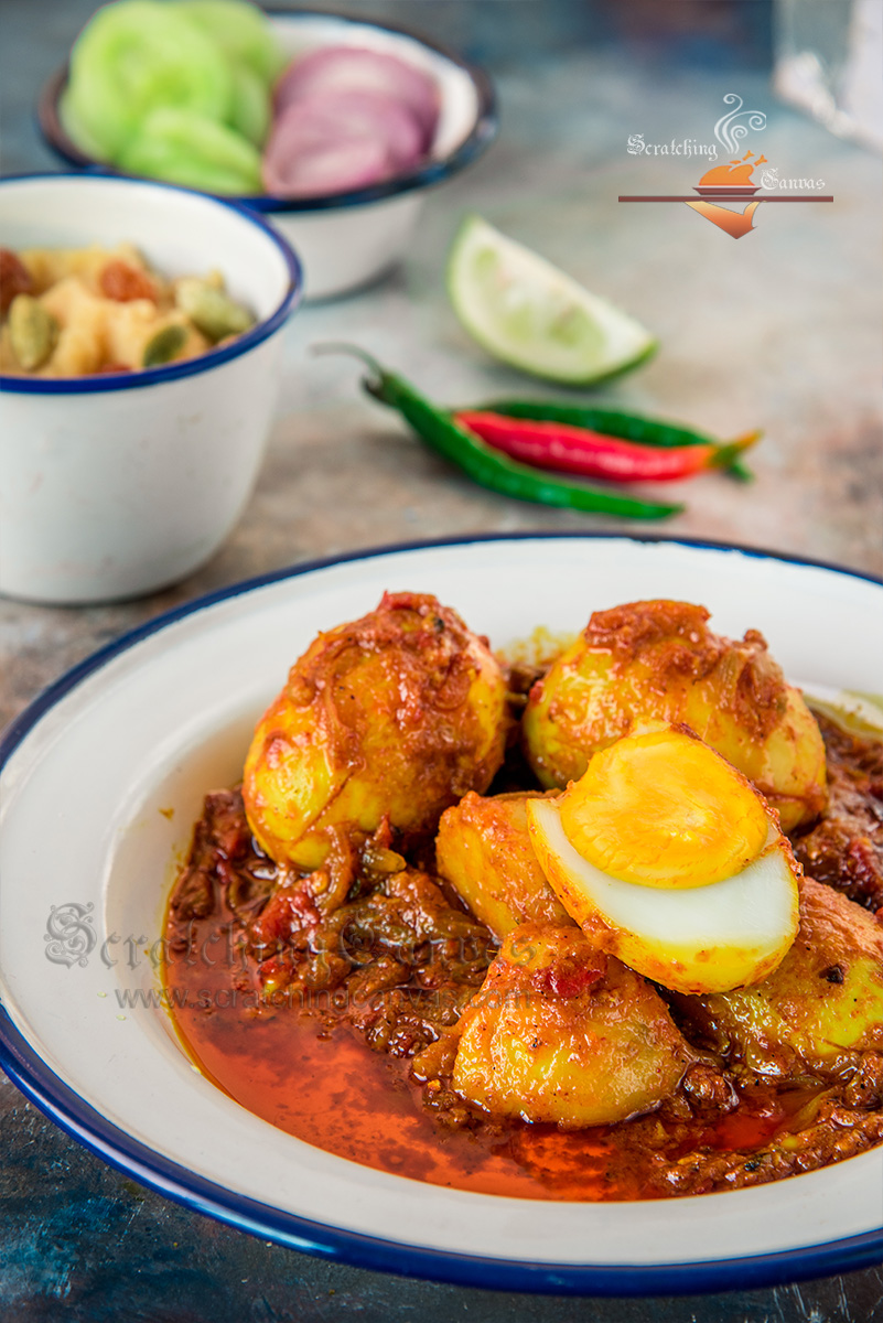 Bengali Duck Egg Curry Food Photography Styling