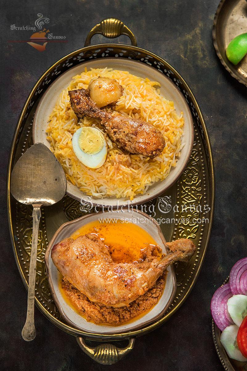 Chicken Biryani Chicken Chaap Food Photography Styling