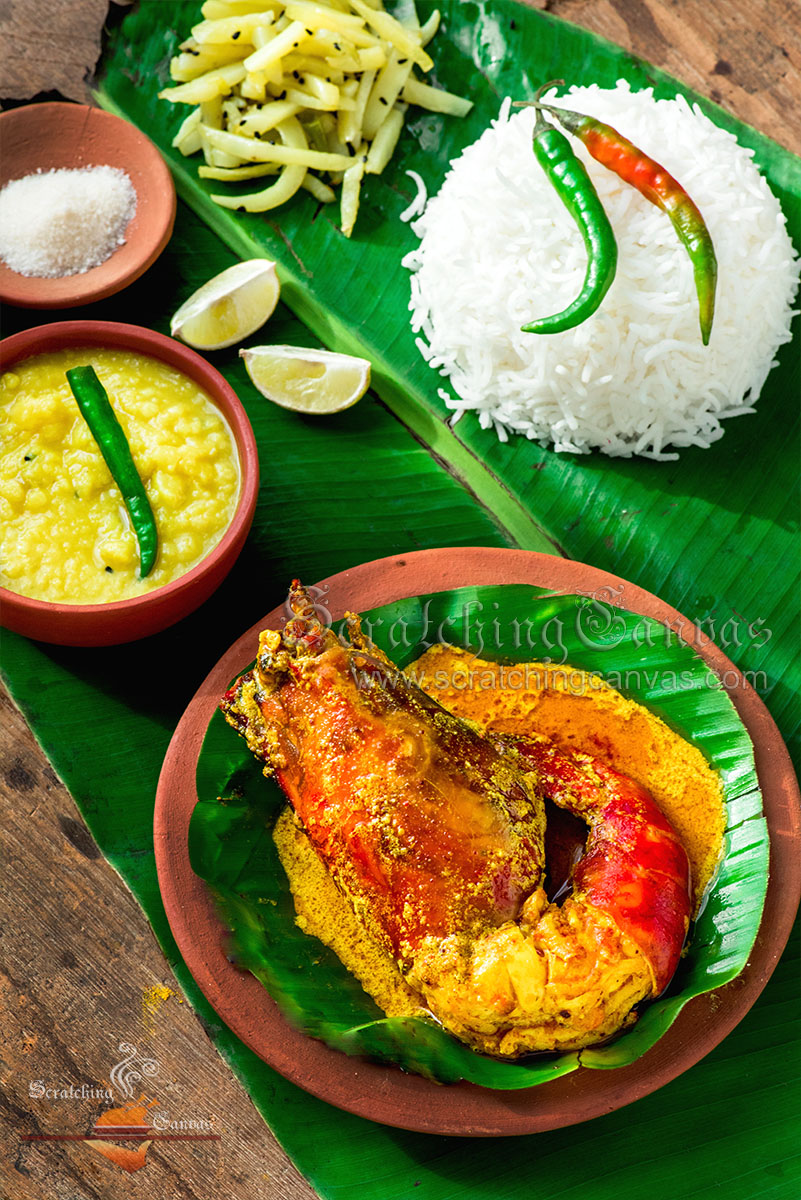 Bengali Chingri Thali Food Styling Photography