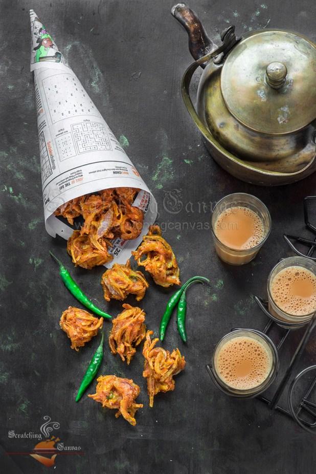 Kanda Bhaji Chai Monsoon Favourites Food Photography Styling