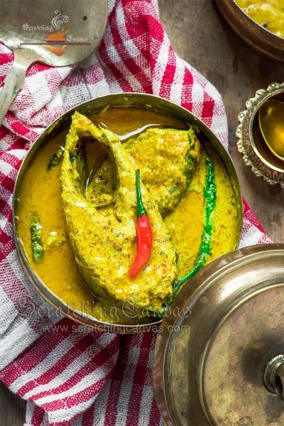 Bhapa Ilish Shorshe bhata diye | Ilish Bhaape | Steamed Hilsa