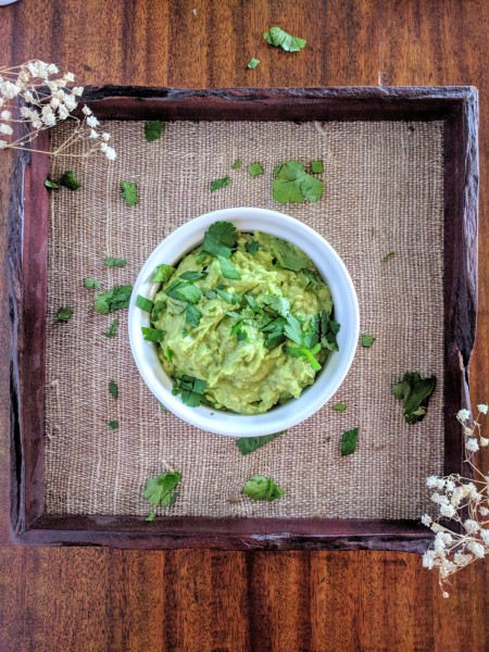 Simple guacamole is a delicious Paleo snack for kids