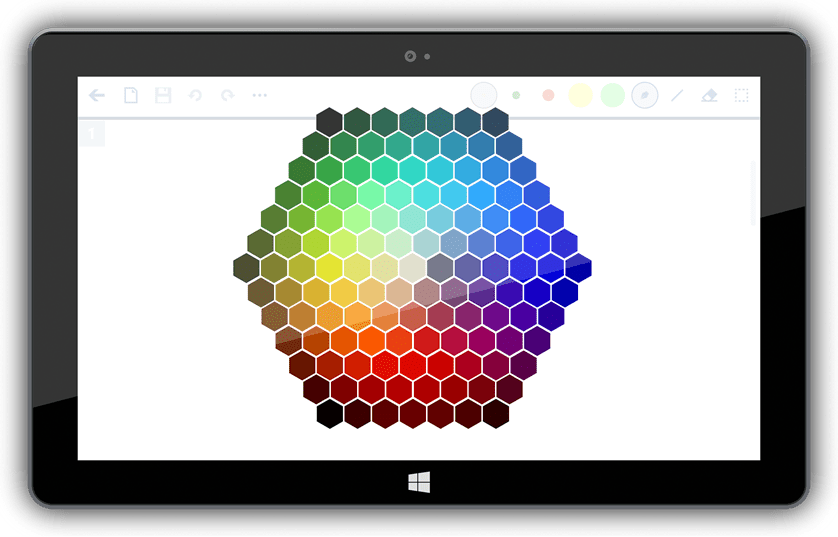 you can easily select among 7 colors and highlighter or open the custom color picker to unleash your creativity