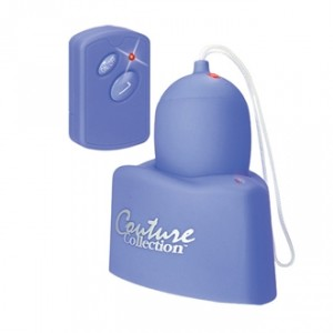 the couture collection bliss - vibrating egg with remote control and heart shaped charging base