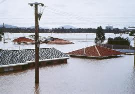 houses under water in brisbane floods