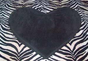 the Liberator heart wedge - sitting on my safari throe