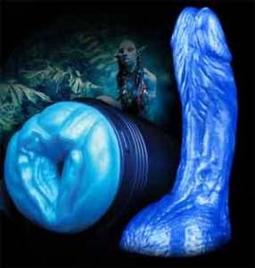Fleshlight Alien Avatar masturbator with matching Avatar Alien dildo