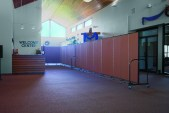 Screenflex Room Divider Walls in the entry hall of Alpine Chapel Church