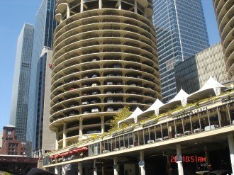 The Marina City building in Chicago IL
