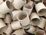 A pile of Cardboard tubes