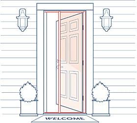 Phantom Screens Professional Entry Door