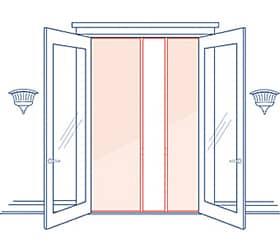 Phantom Screens Professional Over height Double Door