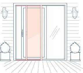 Phantom Screens Professional Patio Sliding Door