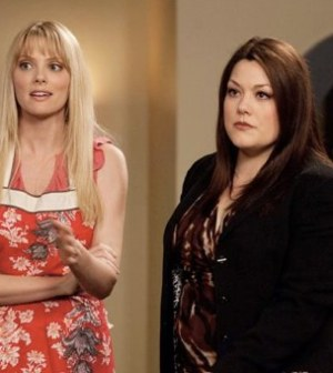 (l-r) April Bowlby & Brooke Elliott in 'Home' Photo by Bob Mahoney. Image © A&E Television Networks