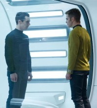 John Harrison and Captain Kirk (Benedict Cumberbatch and Chris Pine) face off in Star Trek Into Darkness (Photo © Paramount Pictures)