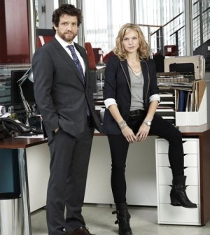 (L-R) Louis Ferreira as Detective Oscar Vega. Kristin Lehman as Detective Angie Flynn (ABC/Kharen Hill)