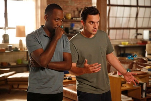 Nick (Jake Johnson, R) and Winston (Lamorne Morris, L) are surprised when Nick inherits some money from his late father. Co. Cr: Greg Gayne/FOX