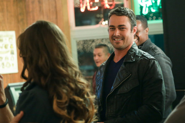 Pictured: (l-r) Brittany Curan as Katie, Taylor Kinney as Kelly Severide -- (Photo by: Elizabeth Morris/NBC)