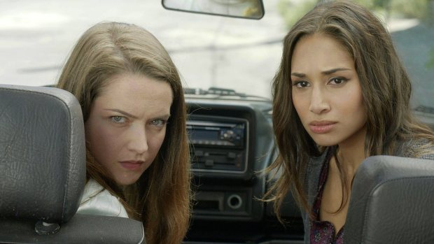 Pictured: (l-r) Susanna Fournier as Zoe Gonzales, Meaghan Rath as Sally -- (Photo by: Syfy).