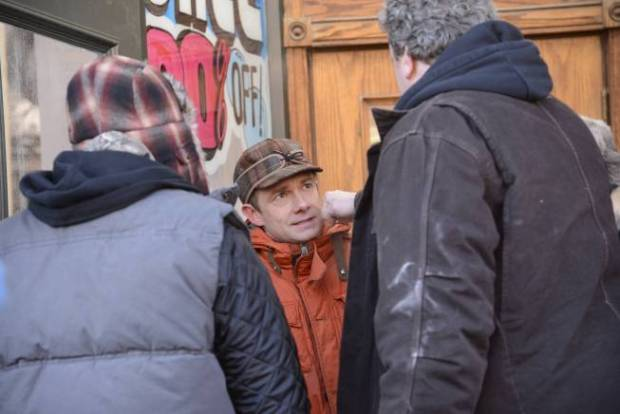 Pictured: (center) Martin Freeman as Lester Nygaard . CR: Chris Large/FX