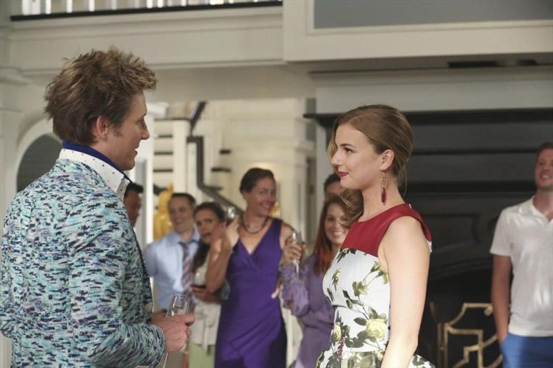 Emily and Nolan share a moment. (ABC/Danny Feld) GABRIEL MANN, EMILY VANCAMP