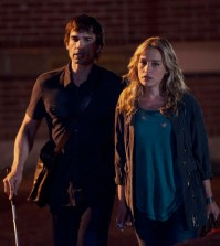 Pictured: (l-r) Christopher Gorham as Auggie Anderson, Piper Perabo as Annie Walker -- (Photo by: Christos Kalohoridis/USA Network)