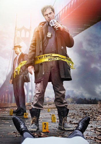 Rainn Wilson as Detective Everett Backstrom (R) and Dennis Haysbert as Detective Sergeant John Almond (L). Co. Cr: Frank Ockenfels/FOX