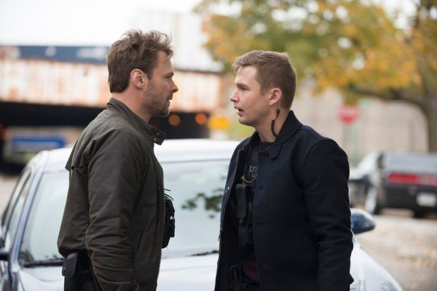 Pictured: (l-r) Patrick John Flueger as Adam Ruzek, Brian Geraghty as Sean Roman -- (Photo by: Matt Dinerstein/NBC)