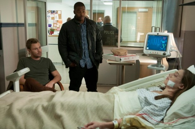 Pictured: (l-r) Patrick John Flueger as Adam Ruzek, LaRoyce Hawkins as Kevin Atwater, Marina Squerciati as Kim Burgess -- (Photo by: Matt Dinerstein/NBC)
